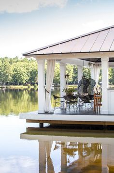 boat dock converted into a party covered dock dock - Boat Dock Design Ideas