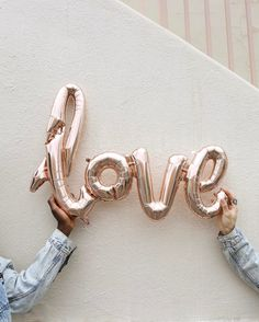 Shop Rose Gold Love Balloon at Urban Outfitters today. All You Need Is Love, Love Is Sweet, Rose Gold Aesthetic, Love Balloon, Festa Party, Hopeless Romantic, Pretty Pictures, Urban Outfitters, Valentines Day