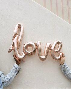 Love is love #Space15Twenty #LosAngeles #UrbanOutfitters #UOLoveStories // rose gold metallic balloons tumblr hipsters aesthetics