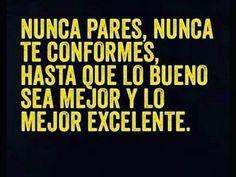 Nunca pares #FrasesC