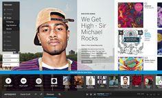 Myspace redesign | Designer: Joseph Mark - http://www.josephmark.com.au/