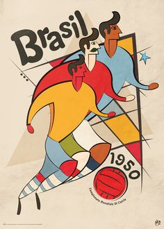 Vintage World Cup by Neil Stevens, via Behance