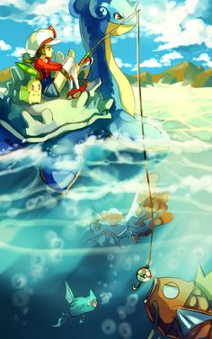 Pokemon : Fishing by *Sa-Dui on deviantART