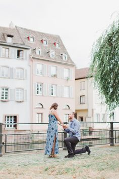 A dreamy surprise engagement in France! #engagement #howheasked #love