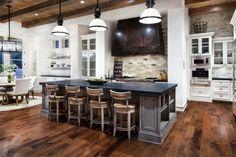 Naturstein in der Küche Landhaus Einrichtung Ideen