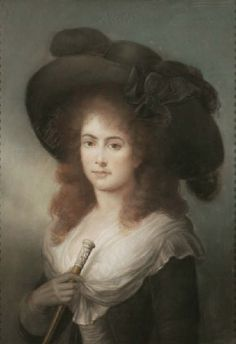 Portrait of a Lady c.1785, thought to be Georgiana, Duchess of Devonshire; attributed to John Russell R.A.
