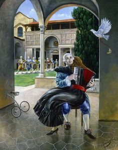 March of Lonely Hearts / Michael Cheval / Surrealism / Sürrealizm