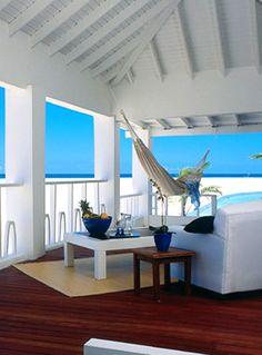a great place to read ....   Hmmmmmmmmmmmmm....  Love it!  #beach, #ocean, #homes, #caribbean