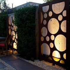 Cool Fences for Your Yard and Garden | Page 7 of 10 | Live Dan 330 ~ Metal Panel Fence with lights