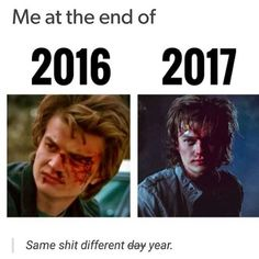 """2,503 Likes, 8 Comments - stranger things everything (@tubular.wheeler) on Instagram: """"The newest post from @strangerthingstv is how I have started my year off lol :) . {creds:…"""""""