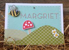 Bij Margriet Creatief, Stampin' Up! namecard, bug me, naamkaartje, itty bitty punch
