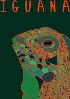 My Illustration Blog AnimalesDelMundo AnimalesDelMundoEcuador Ecuador animales animals illustration ilustración Iguana Reptile