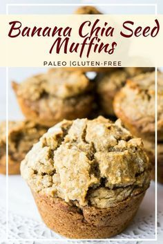 These Paleo Banana Chia Muffins are a delicious, healthy breakfast option that are gluten-free, grain free, and naturally sweetened. via @fithappyfree