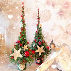 Cute mini pencil Christmas trees