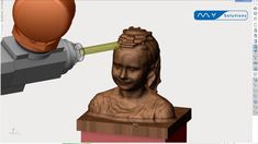 and simulated her as a wooden statue in SprutCAM PDM. 3d Scanners, Wooden Statues, Videos, All In One, Software, Hardware, Youtube, Products, Wood Sculpture