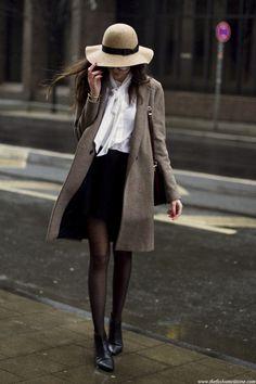 manteau beige brun