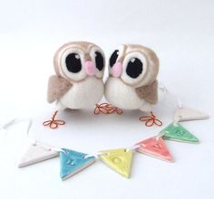 Owl Wedding Cake Topper Barn Owl Pair in soft Browns Felt Birds Wedding Cake Toppers, Wedding Cakes, Whimsical Owl, Felt Birds, Owl Wedding, Wedding Ideas, Brown Skin, Needle Felting, Cupcake Cakes