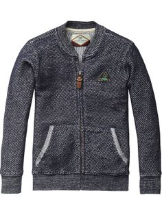 Two Tone College Jacket | Sweat | Boy's Clothing at Scotch & Soda
