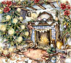 Christmas Hearth by Kim Jacobs