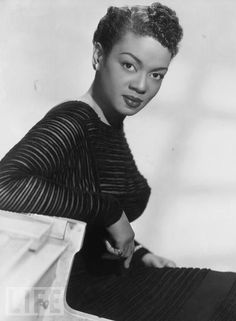 """Hazel Scott """"Any woman who has a great deal to offer the world is in trouble. And if she's a black woman, she's in deep trouble"""". Hazel Scot"""
