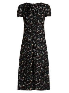 Floral-print  silk-georgette midi dress | Saint Laurent | MATCHESFASHION.COM US