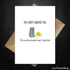 I'm very grateful - Cute Pun Thank you Card