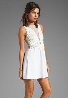 FOR LOVE & LEMONS Lulu Dress in Ivory - Dresses