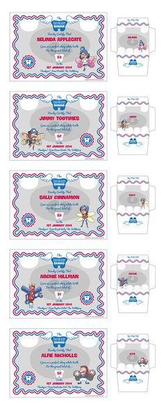 Free Printable Toothfairy Certificates and Envelopes from ToothfairySquad.com