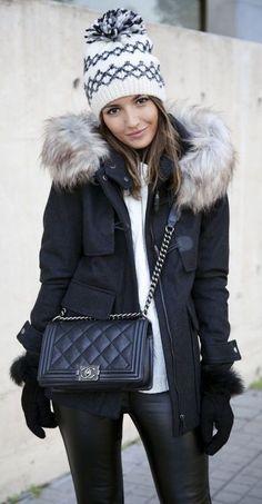 #winter #fashion / faux fur