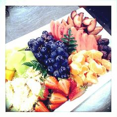 Fresh fruit platter anyone?
