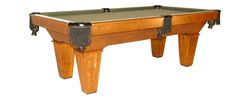 The Maddox standard Leg (shown in Maple with Heritage Maple finish)  The Maddox is a traditional style pool table with standard legs. Value and the flexibility, of two different leg styles, has led to the success of this classic popular design from the turn of the century.  Ball and Claw leg option available.  Offered in Pool, Billiard, and Snooker Tables