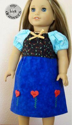 "Frozen Princess Anna doll dress, first 18"" dolls like American Girl."