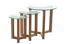 Osaka Szklany Stolik Kawowy 3 Częściowy<br />Kolekcja Osaka marki Actona to meble o nowoczesnym i minimalistycznym designie inspirowane orientalnym...