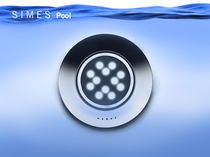 Recessed light fixture / LED / round / pool