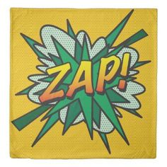 Comic Book ZAP! SOUNDS double sided Duvet Cover - personalize design idea new special custom diy or cyo