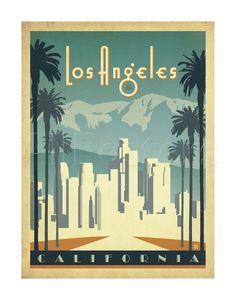Los Angeles, California Plakater af Anderson Design Group på AllPosters.dk