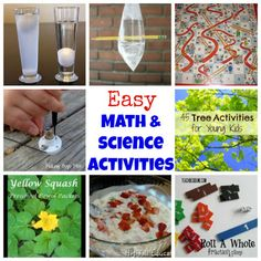 Use these easy math and science experiments to make learning fun for kids!