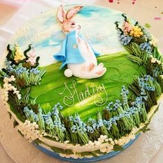 Beatrix Potter themed cake