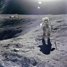 Apollo 16 Astronaut Charles M. Duke Standing On The Moon – April