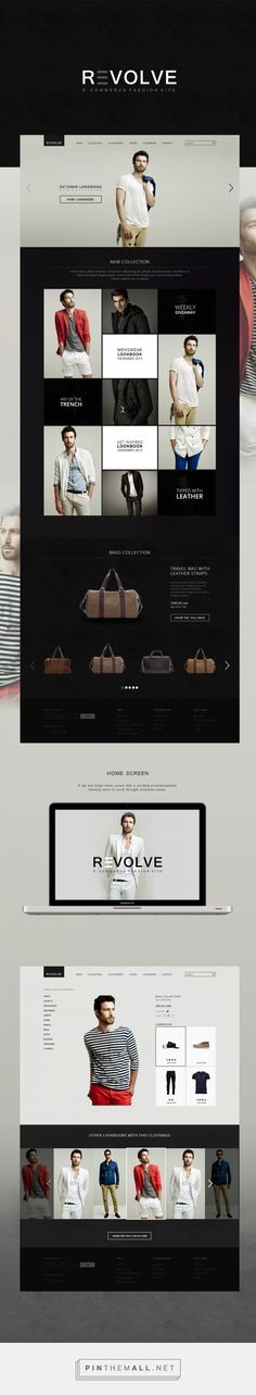 Revolve Web Design by Yaroslava Velichko | Fivestar Branding – Design and Branding Agency & Inspiration Gallery