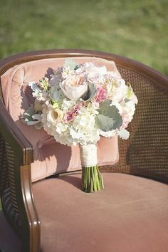 pretty pink pastel wedding bouquet  http://www.weddingchicks.com/2014/01/27/pastel-sheep-wedding-inspiration/