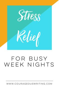 Chaotic and busy week nights can create a stressful life and household. Here are some helpful tips for stress relief for those crazy week nights. Say goodbye to those moody Mondays!