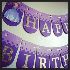 Sofia the first birthday banner, sofia the first party, sofia the first banner, princess banner, princess garland Sofia the first birthday banner sofia the first by NiuDesigns Princess Sofia Birthday, Princess Sofia The First, Sofia The First Birthday Party, First Birthday Banners, Gold Birthday Party, 4th Birthday Parties, Birthday Nails, 3rd Birthday, Birthday Ideas
