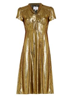 Morgan short-sleeved lamé dress | HVN | MATCHESFASHION.COM UK