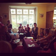 The baby shower gathering