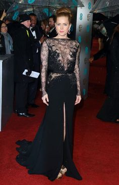 Amy Adams in Elie Saab Haute Couture sheer lace dress ate the 2013 Baftas #classic