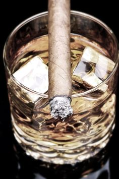 Cigars and whiskey, like peanut butter and jelly.