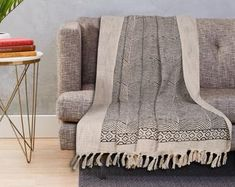 Large Sofa throw covers rectangle tassel ivory-couch   Etsy Sofa Throw Cover, Sofa Covers, Large Throws For Sofas, Sofa Cloth, Sofa Protector, Long Sofa, Custom Sofa, 2 Seater Sofa, Sofa Furniture