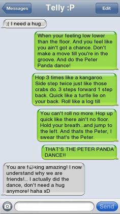 Peter Panda Dance- sorry about the smiley face tht was the only clean pic