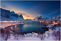 Reine | Last Light by Christian Ringer on 500px